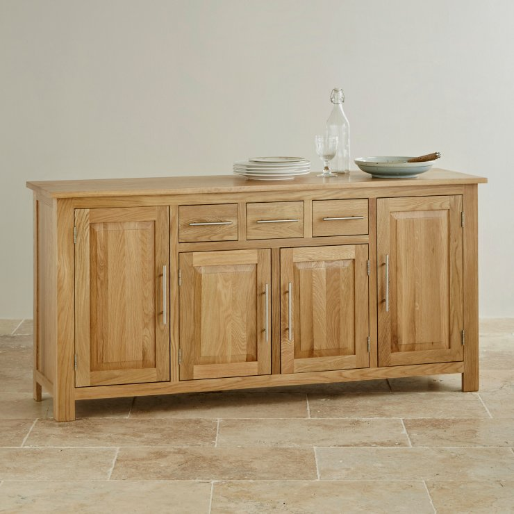 Rivermead Natural Solid Oak Large Sideboard