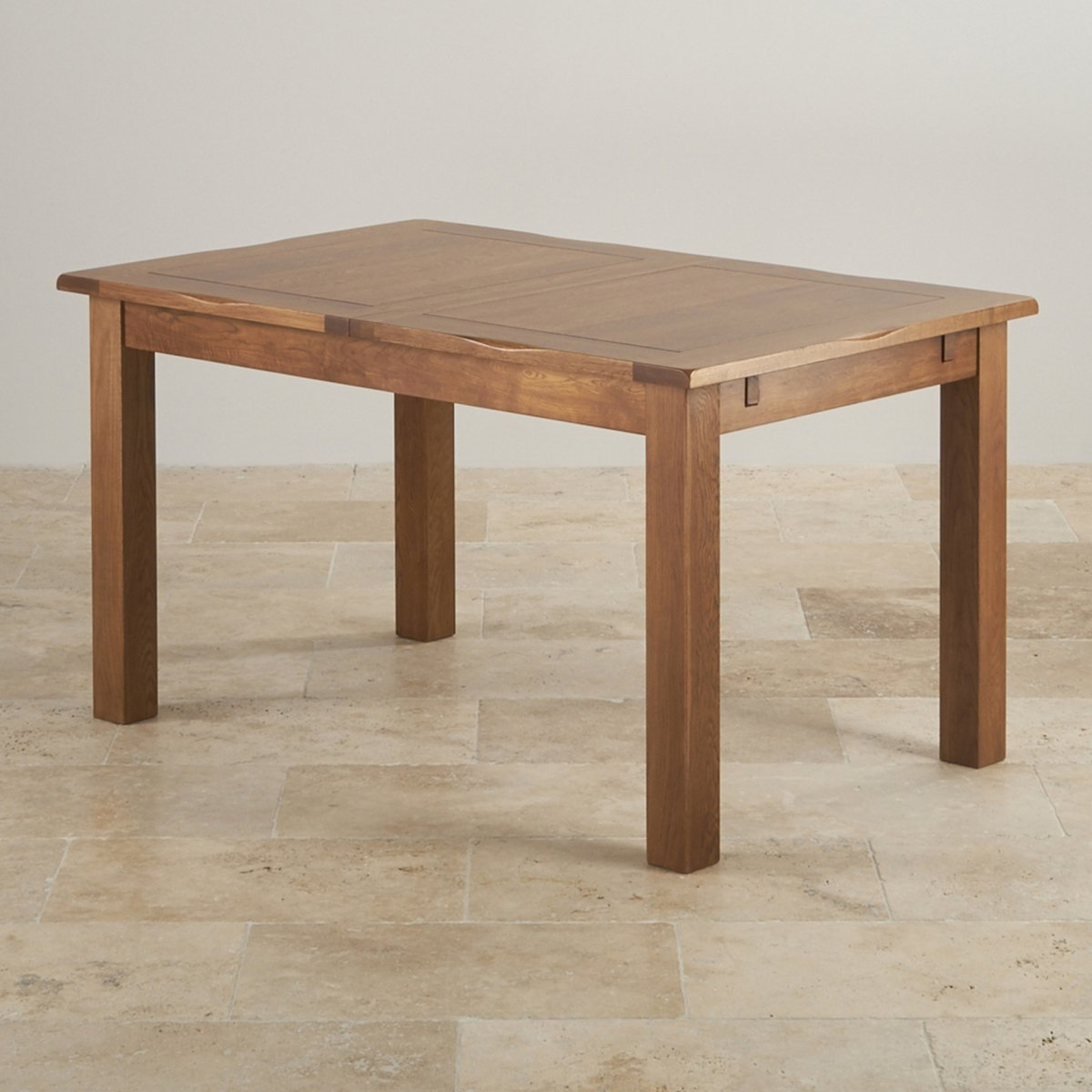 Original rustic extending dining table oak furniture land - Oak dining tables uk ...