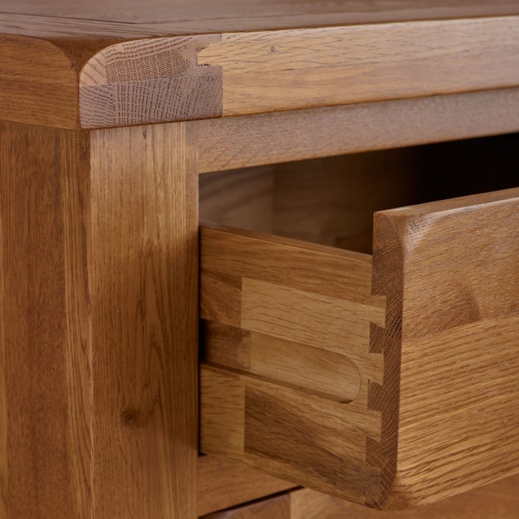 Original Rustic Computer Desk In Solid Oak Oak Furniture