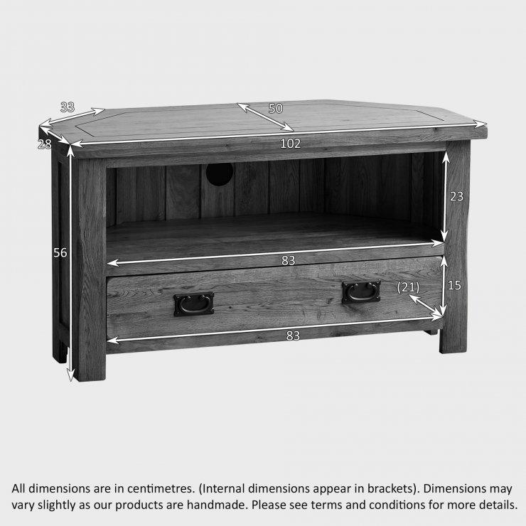 Original Rustic Corner Tv Cabinet In Solid Oak