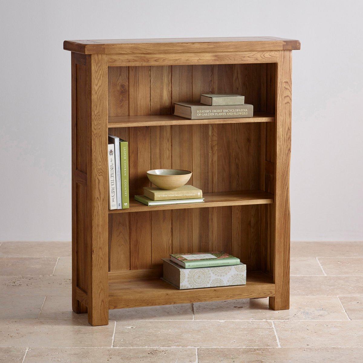 Original Rustic Small Bookcase in Solid Oak | Oak ...