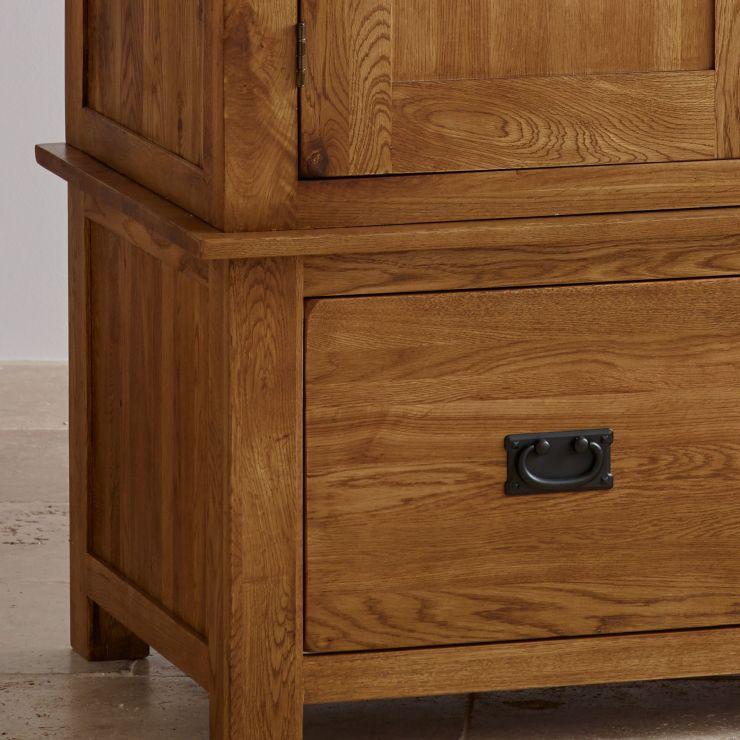 rustic wardrobe in solid oak original rustic oak. Black Bedroom Furniture Sets. Home Design Ideas