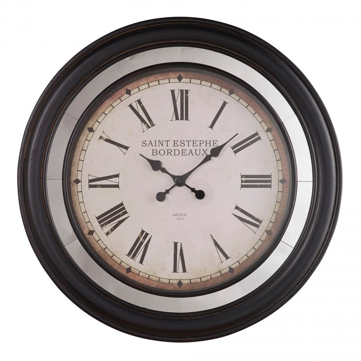 Saint Estephe Wall Clock Oak Furniture Land