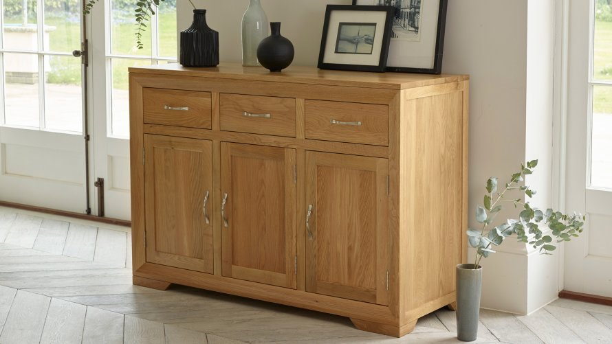 Sideboards plentiful storage and display oak furniture for Oak furniture land