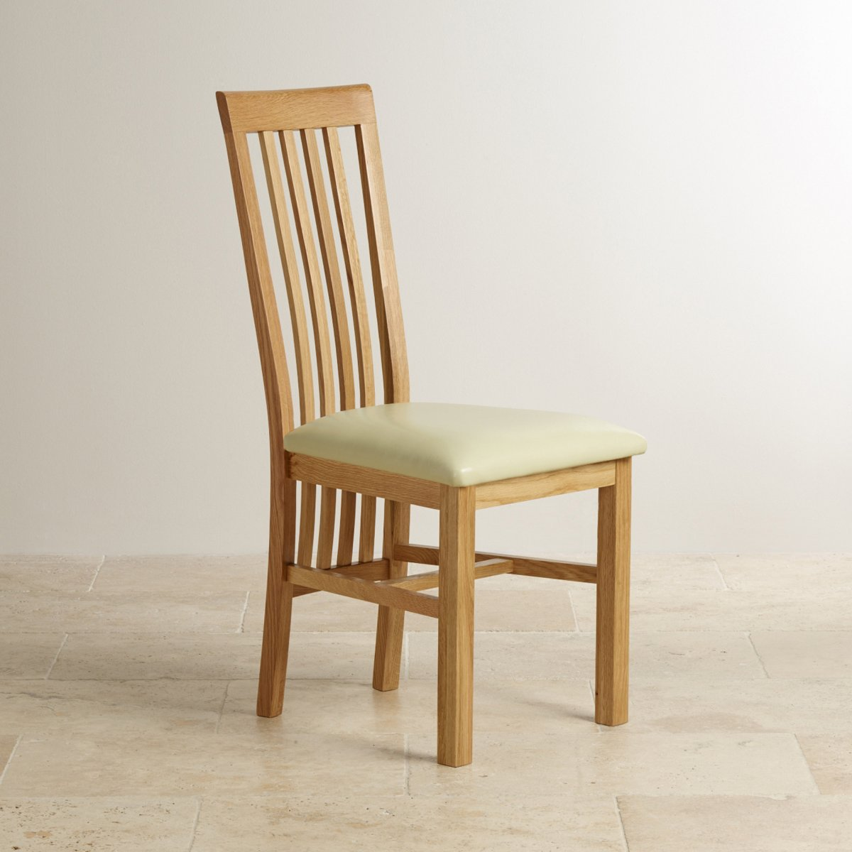 Solid Oak High Slat Back and Cream Leather Dining Chair : slat back natural solid oak and cream leather dining chair 567adc87038510d1d241f30a27c717bede92de0c531f3 from www.oakfurnitureland.co.uk size 1200 x 1200 jpeg 128kB