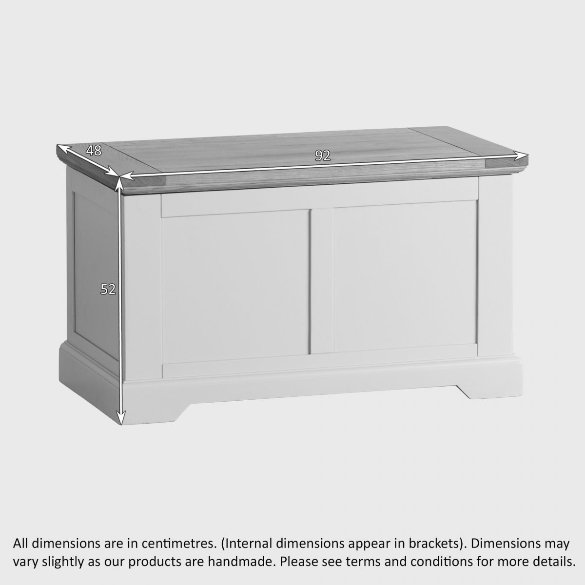 Natural Oak And Light Grey Painted Blanket Box