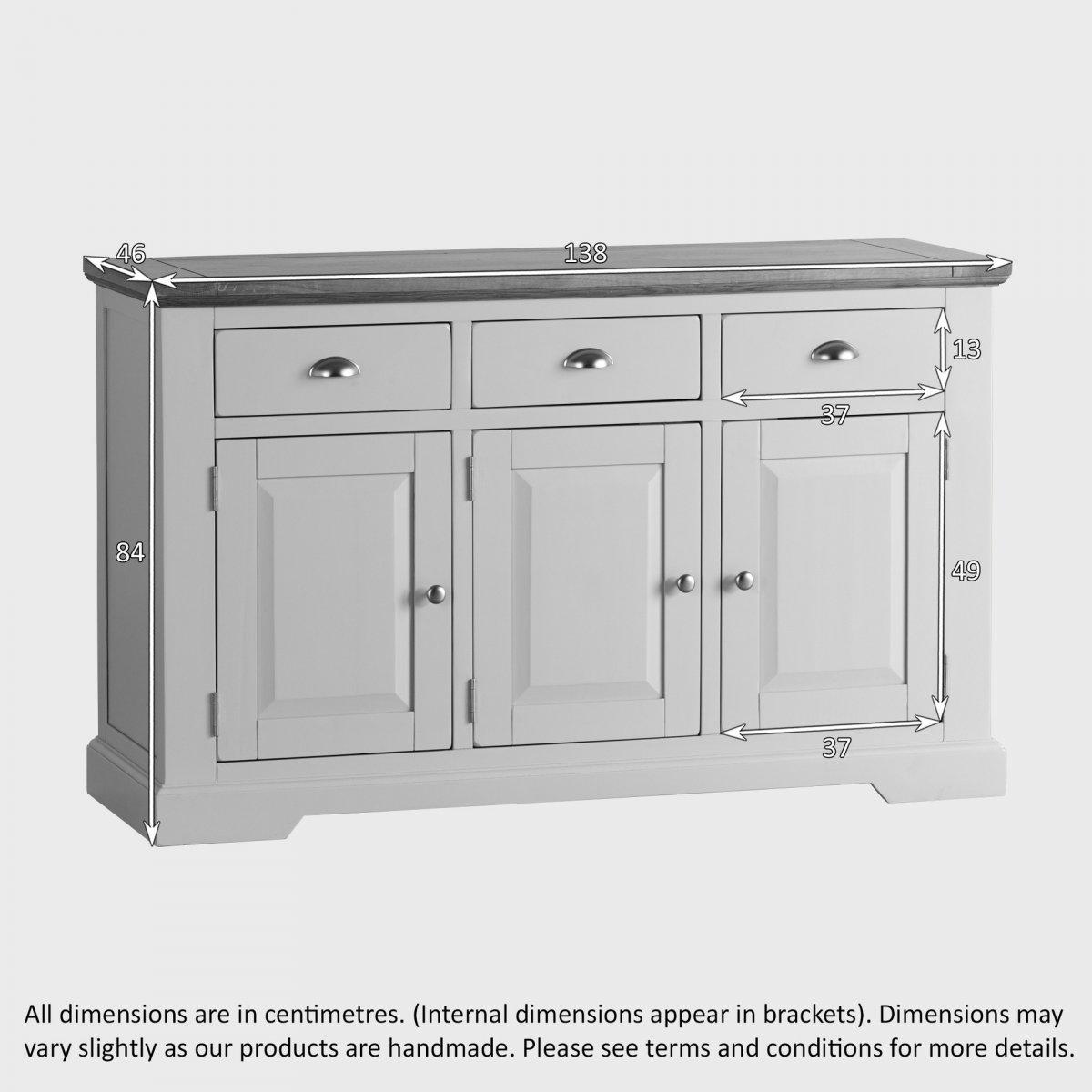 St Ives Large Grey Sideboard in Solid Hardwood Brushed  : st ives natural oak and light grey painted large sideboard 57c93f63e5376b0c43954a8d3c9b0db8295b98b0a43f7 from www.oakfurnitureland.co.uk size 1200 x 1200 jpeg 104kB