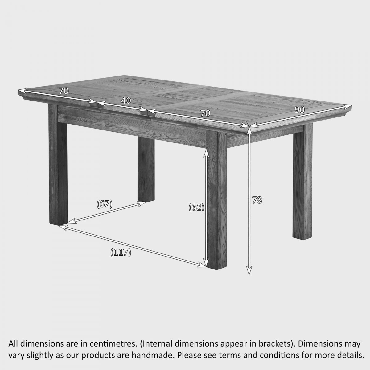 Extendable Dining Table in Brushed Oak