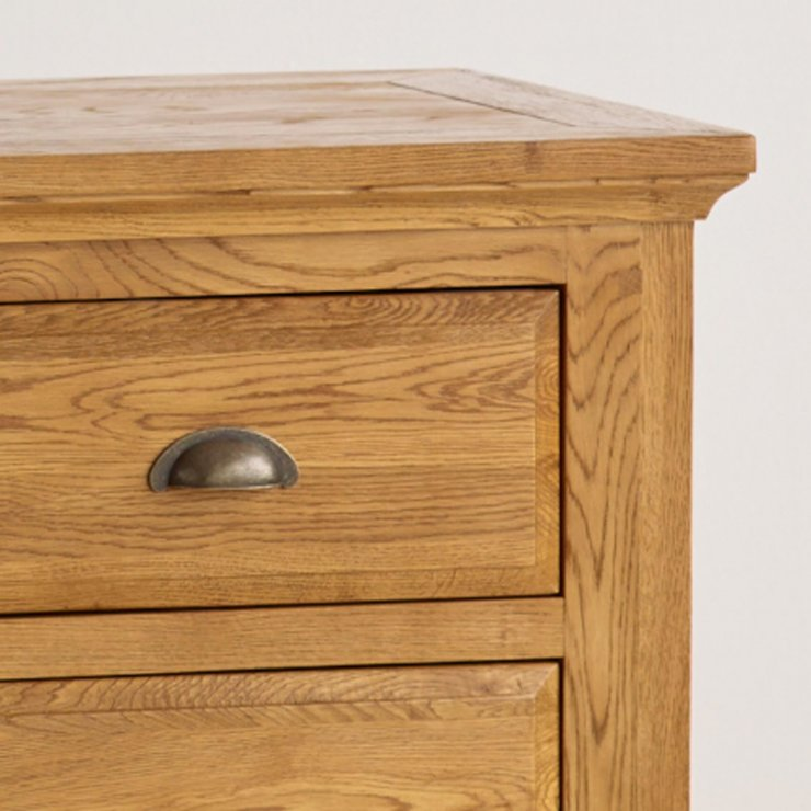 Taunton Rustic Brushed Solid Oak 3+4 Drawer Chest