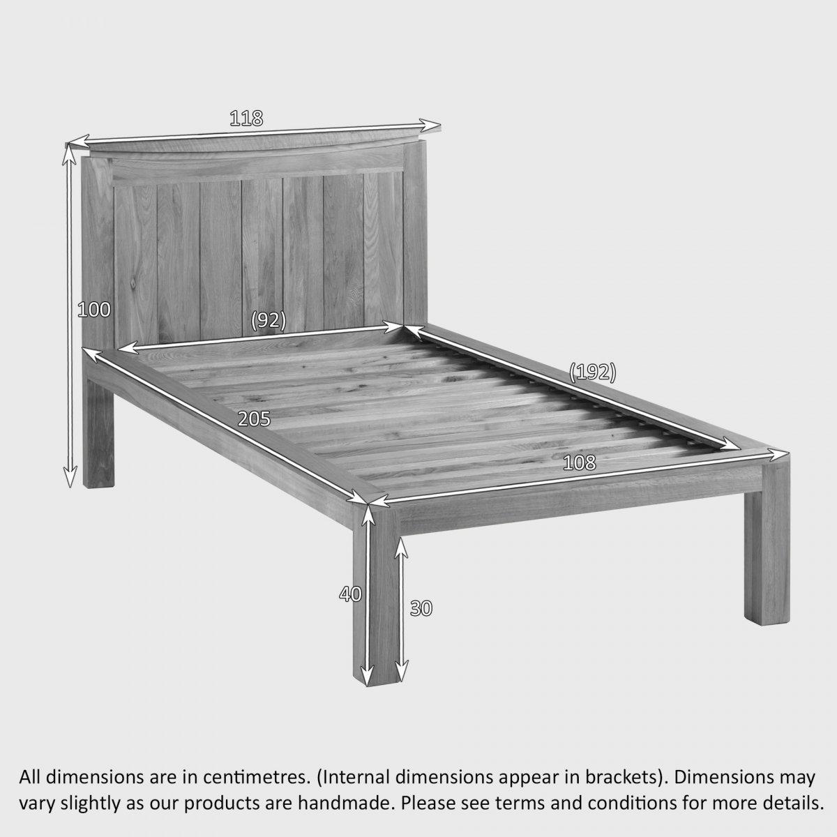 Single Bedroom Furniture Tokyo Natural Solid Oak Single Bed Bedroom Furniture