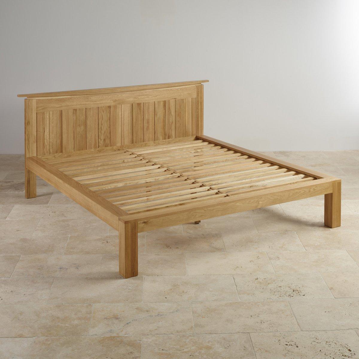 Tokyo king size bed in natural solid oak oak furniture land for Furniture land
