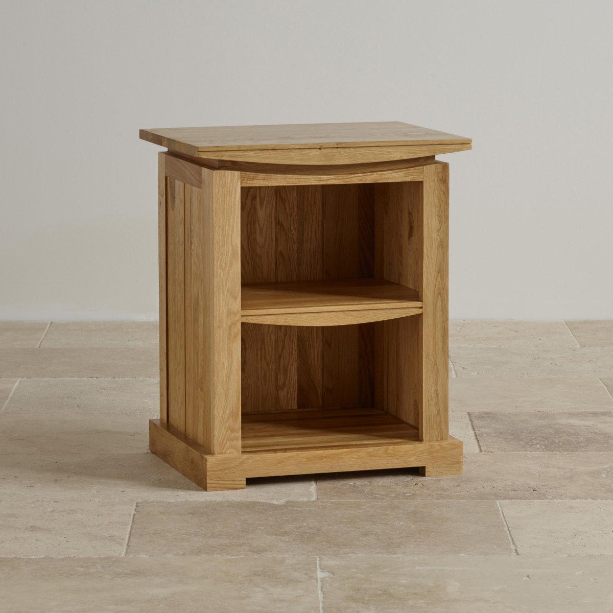 Tokyo bedside table in natural solid oak oak furniture land for Solid oak furniture