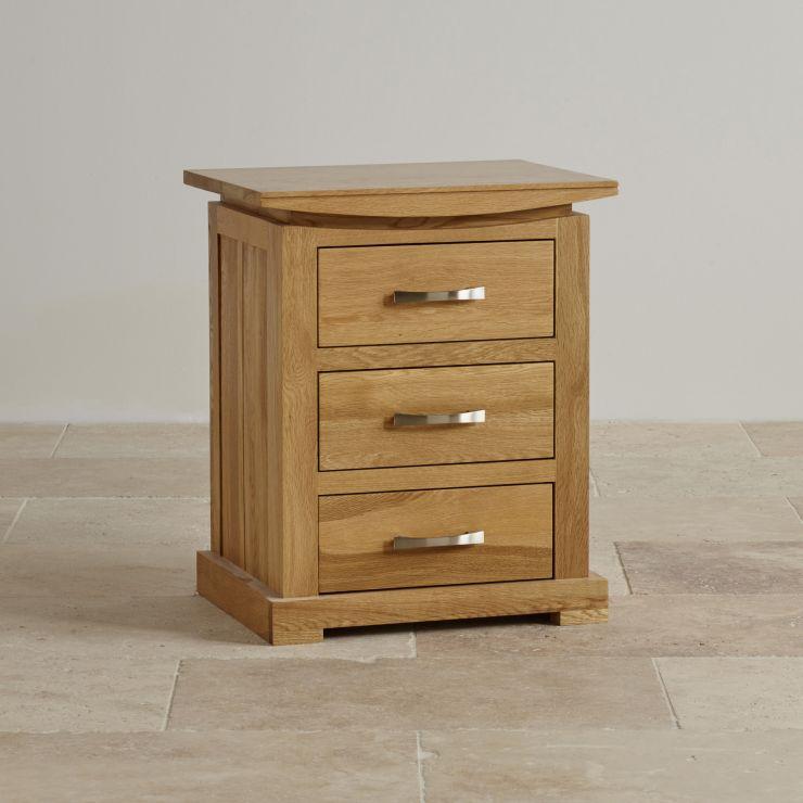 Tokyo 3 Drawer Bedside Table In Solid Oak Oak Furniture Land