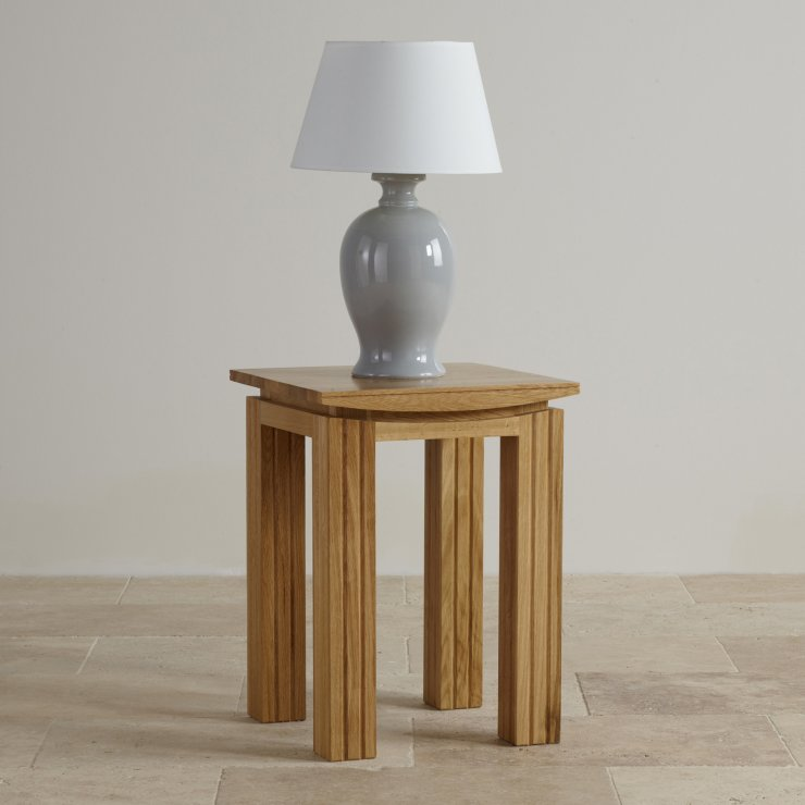 Tokyo Natural Solid Oak Lamp Table Living Room Furniture