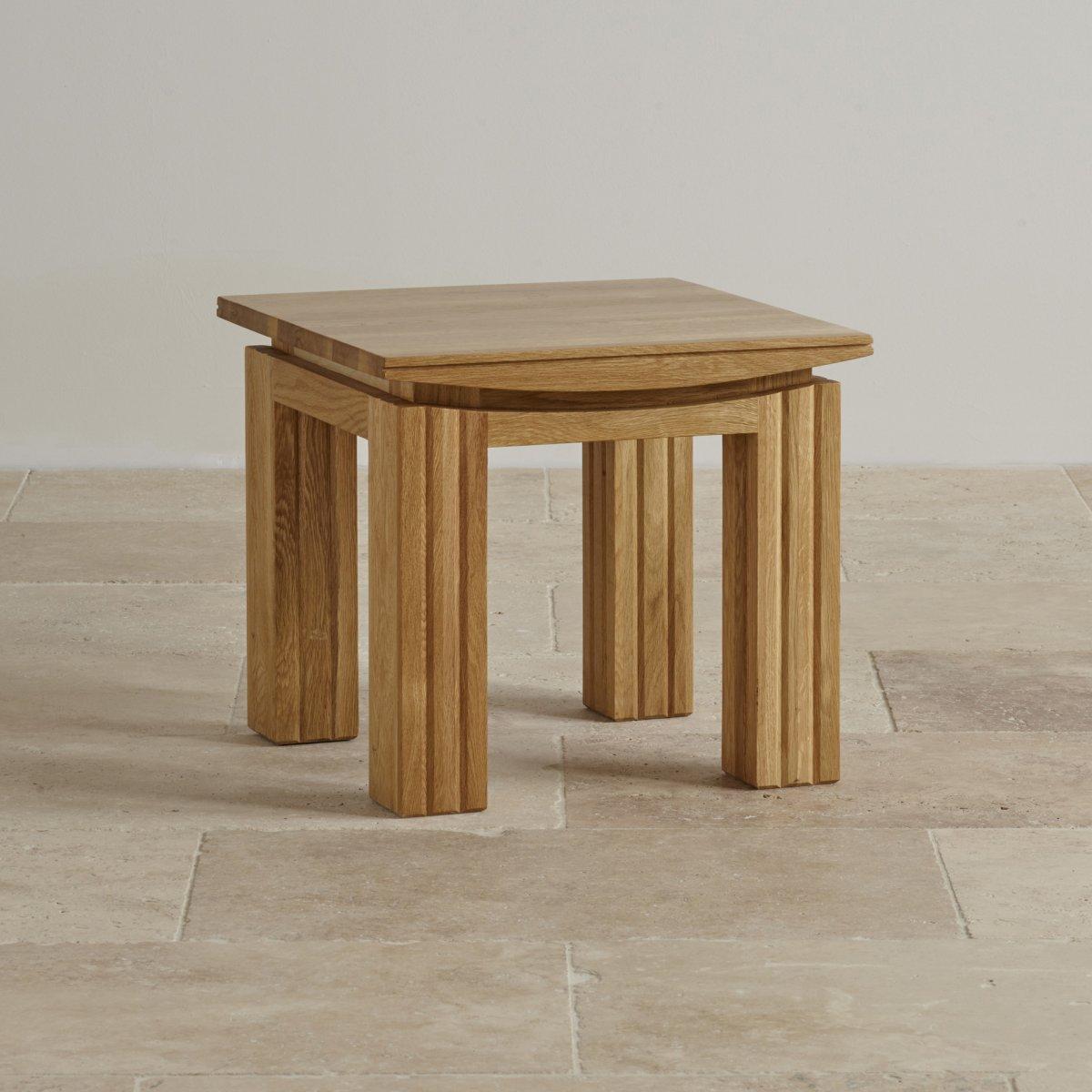 Conran Solid Oak Living Room Furniture Side End Lamp Table: Tokyo Natural Solid Oak Side Table