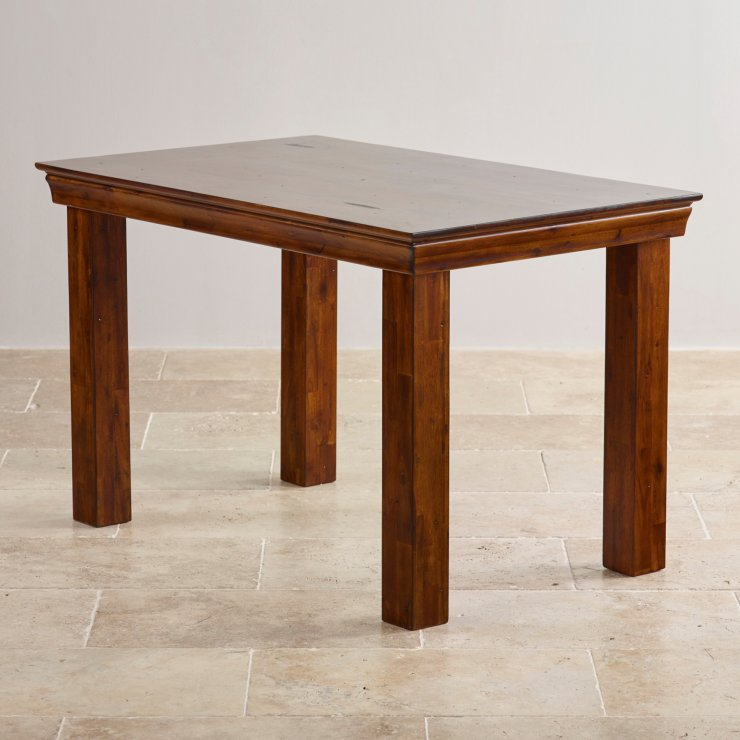 victoria solid hardwood dining set 4ft table with 4 scroll back