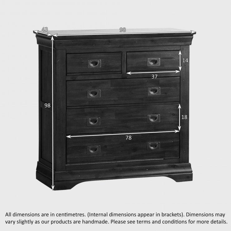 Victoria Solid Hardwood 3+2 Chest of Drawers