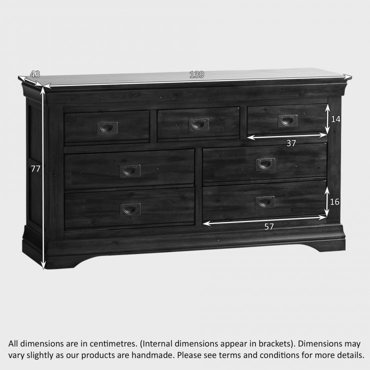 Victoria Solid Hardwood 3+4 Chest of Drawers