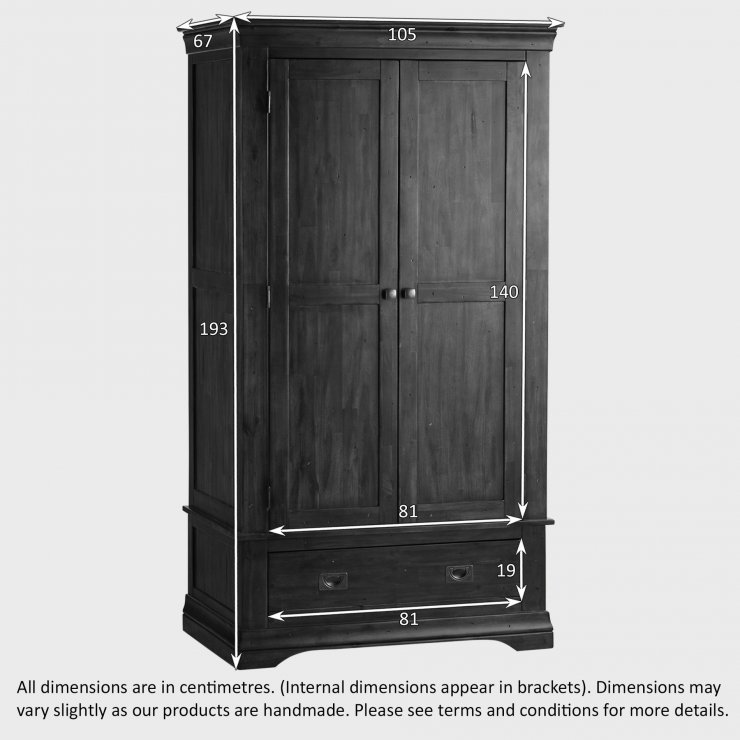 Victoria Solid Hardwood Double Wardrobe