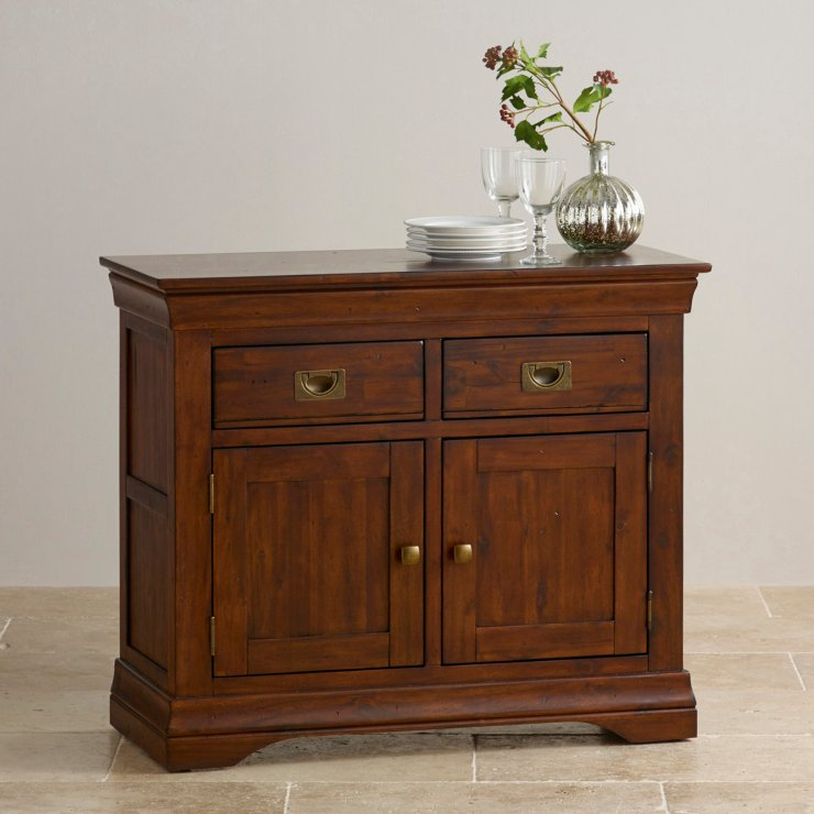 Victoria small sideboard in solid acacia oak furniture land for Oak furniture land