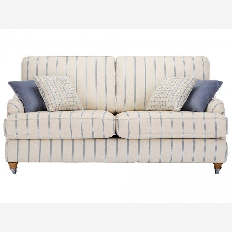 Westbury 3 seater sofa in kendrick stripe fabric for Westbury leather sofa