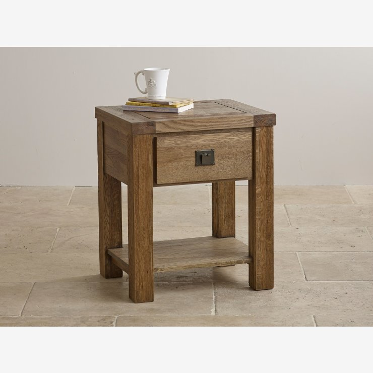 Windstor Lamp Table In Brushed Solid Oak Oak Furniture Land