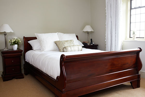 Sleigh Solid Mahogany Bed