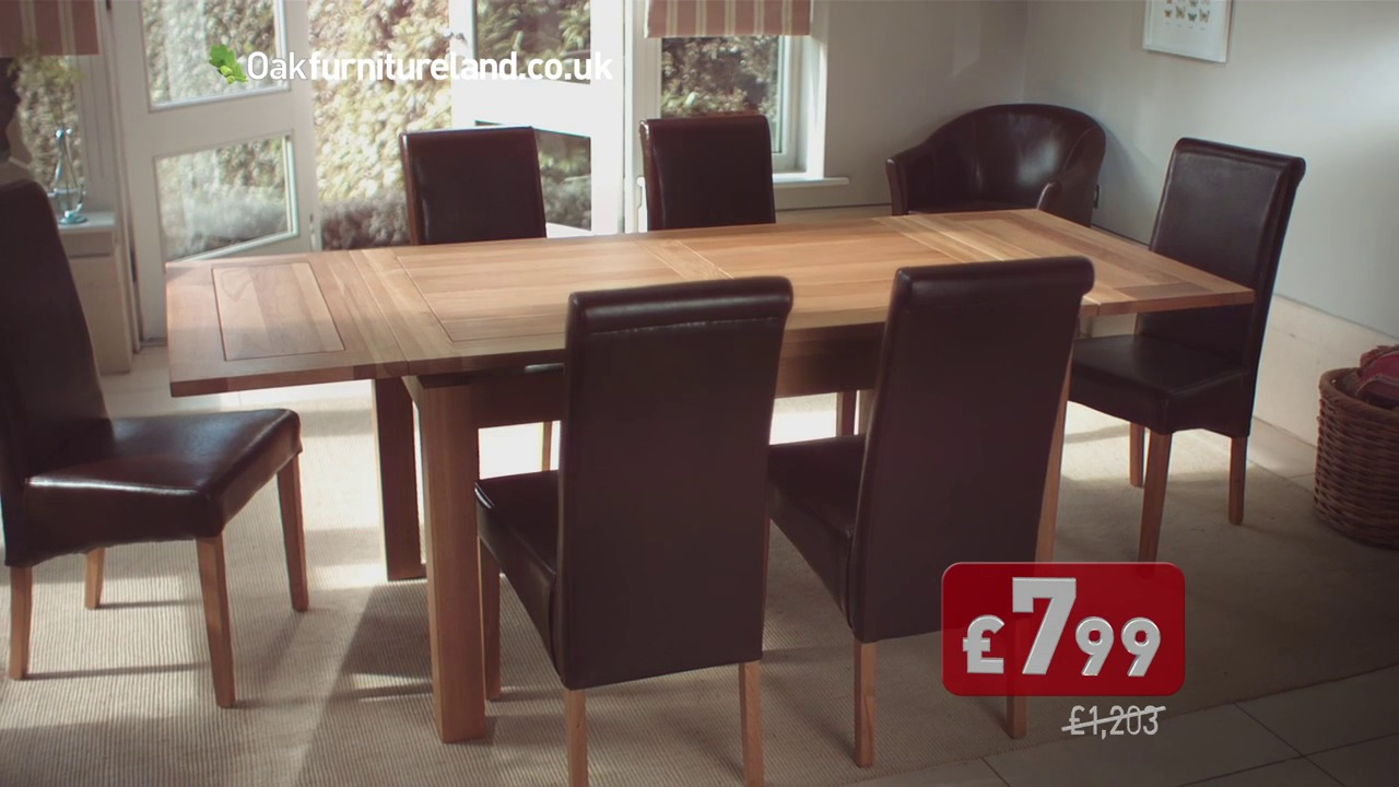 Dining sets in the oak furniture land autumn sale by oak for Oak furniture land