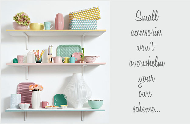 Shelf with Pastels