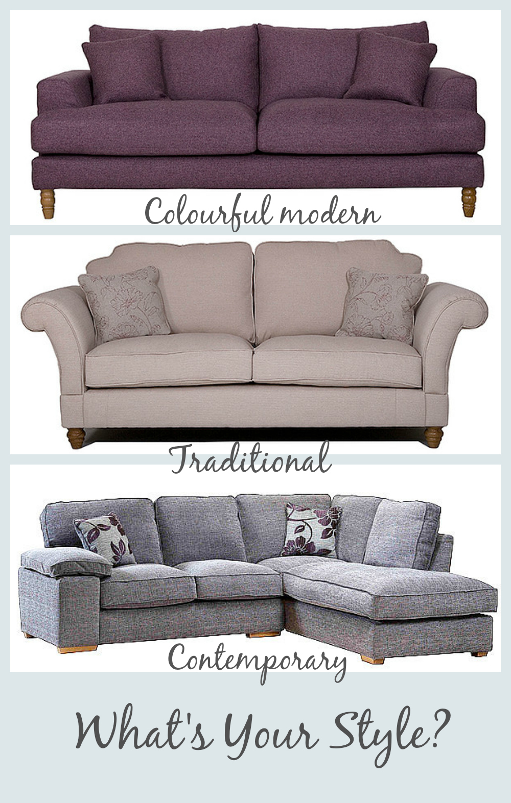 Different Styles Of Sofas - Home Design