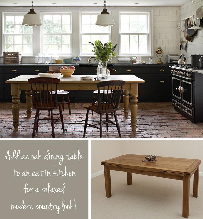 Add an oak table