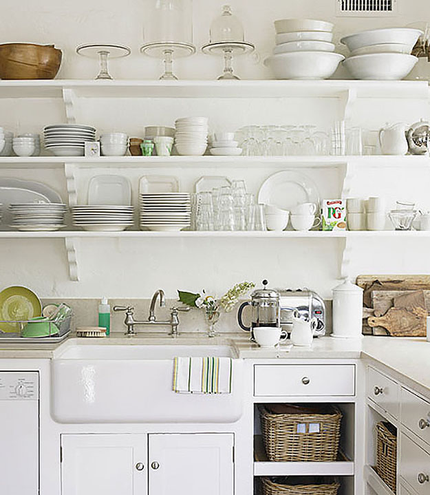 Kitchen Open Shelving Dust: Ways To Make A Small Kitchen Feel Bigger By Carole Poirot