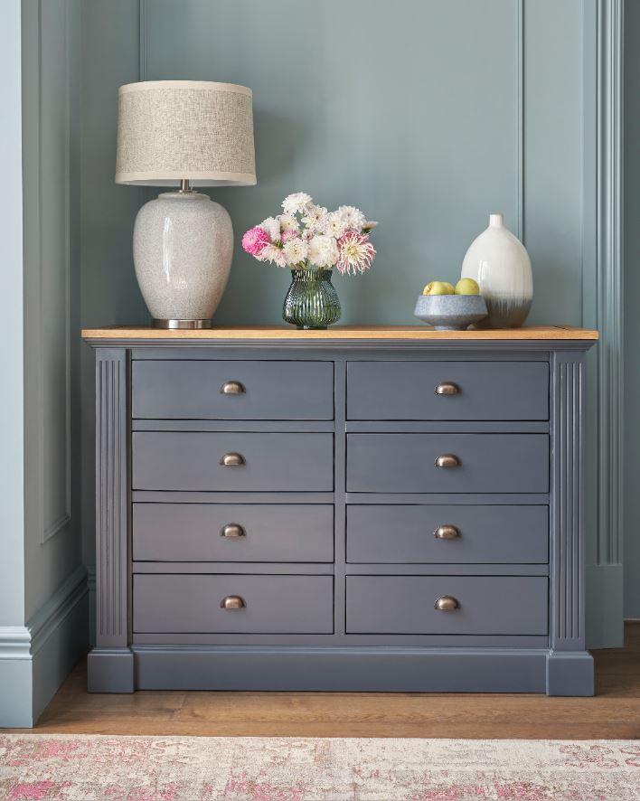 Highgate navy painted oak drawer