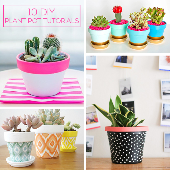 10 Diy Pretty Plant Pots You Can Create This Weekend