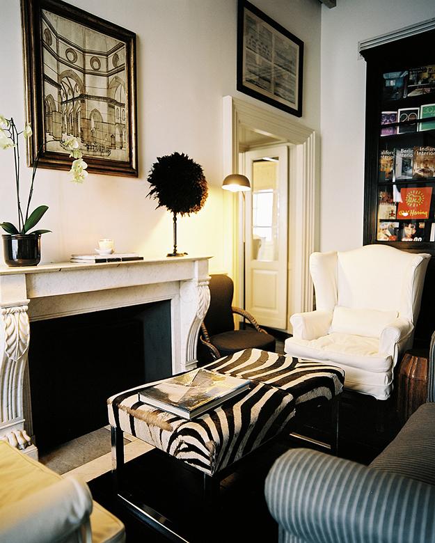 lonny zebra print foot stool