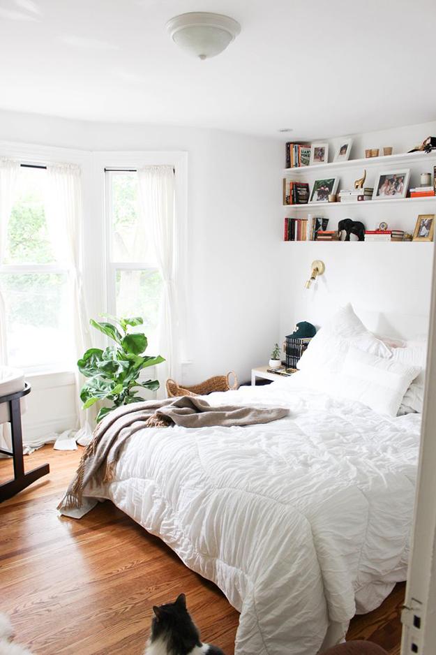 calm casual bedroom