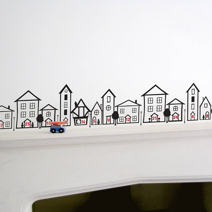 advent calendar wall sticker