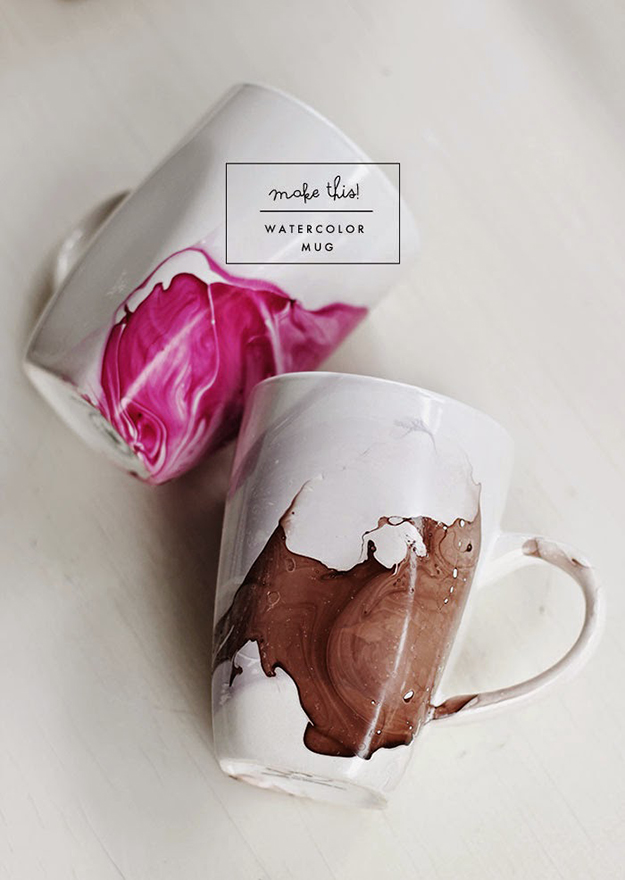 DIY Water Colour Mug