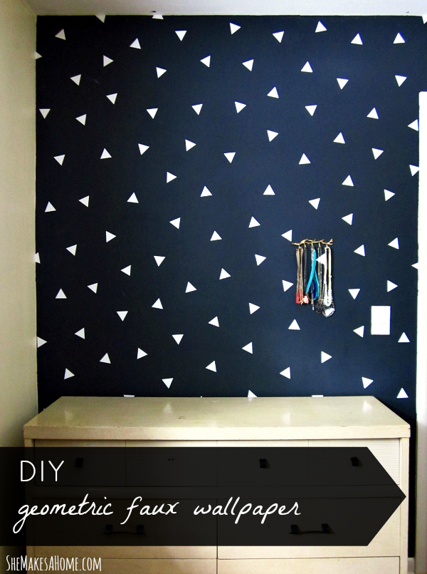 triangle confetti wall pattern DIY title