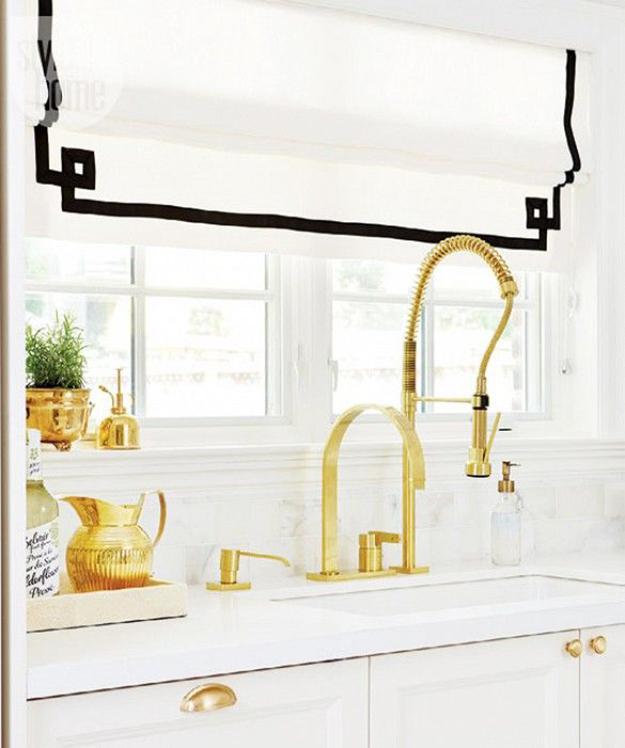 Brass in kitchen