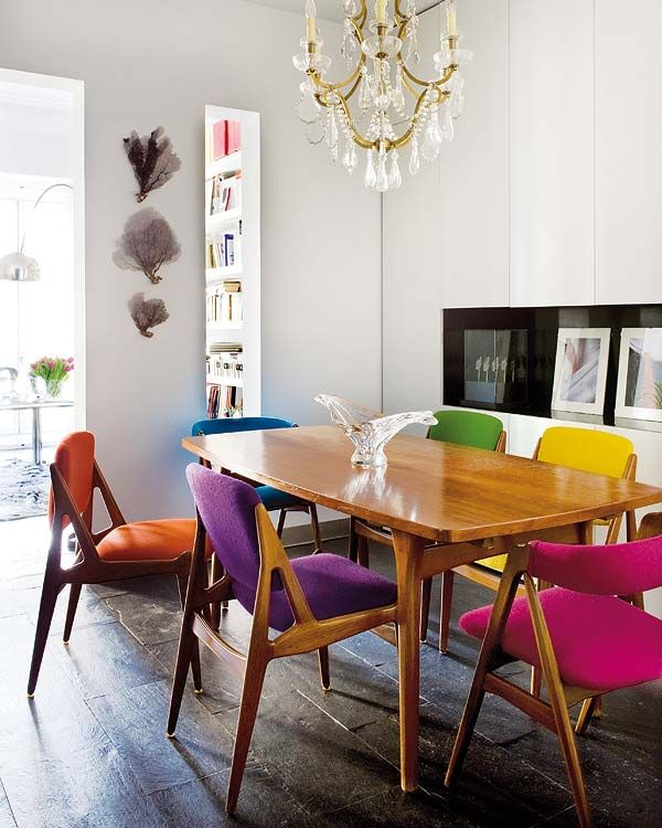 colourful dining