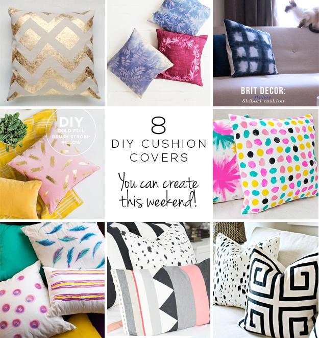 DIY Painted Pillow Cover | Diy pillow