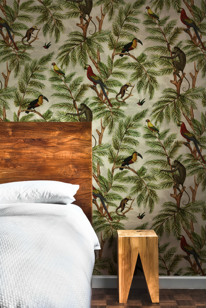 Miki Rose Jungle Print Wallpaper