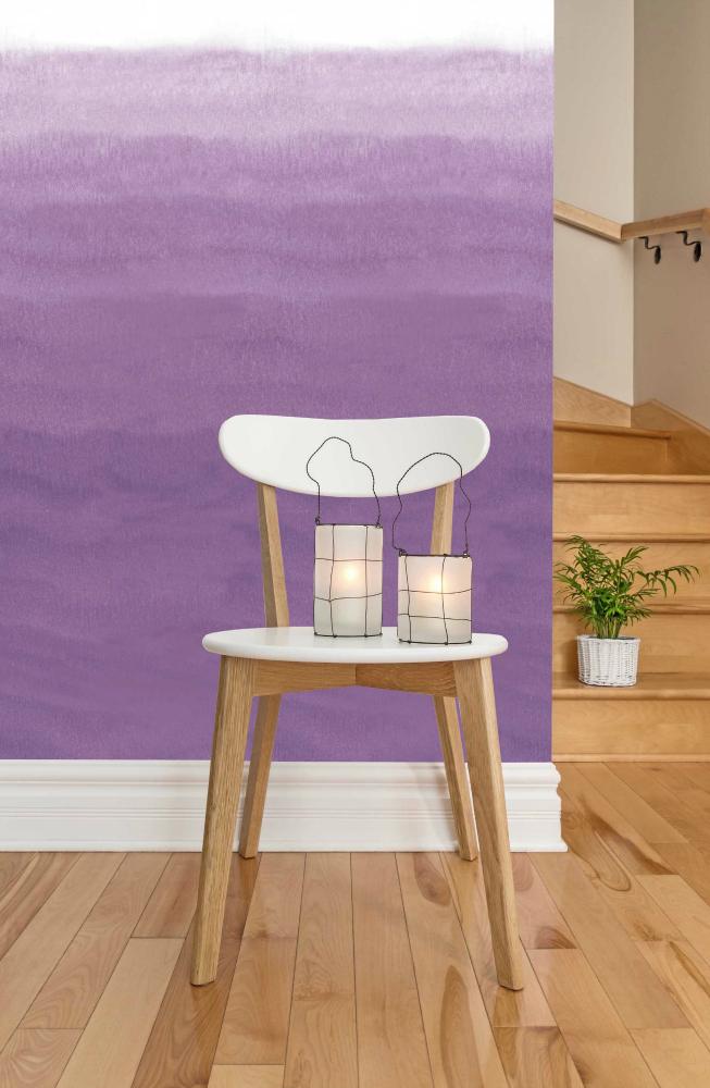 Plum Pastel Ombre Wallpaper