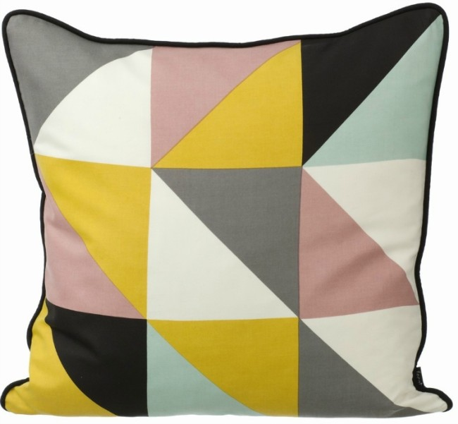 Ferm Living Remix Silk Cushion Yellow