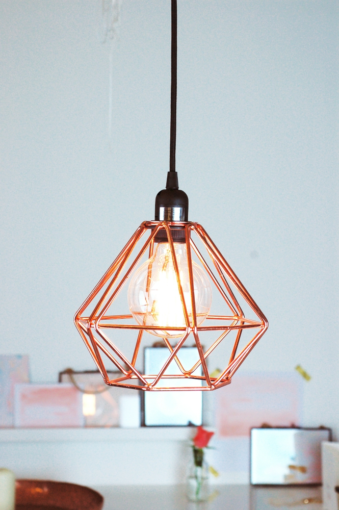Geometric Copper Light Pendant scandi style