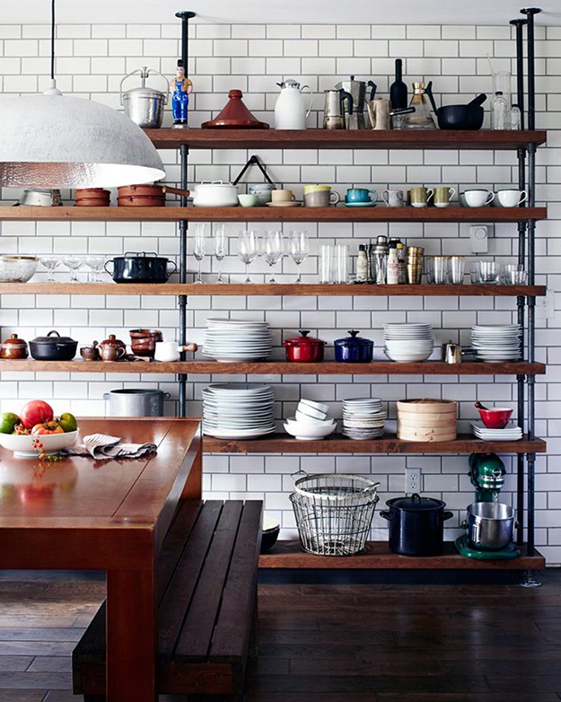 creative ideas for open storage in the kitchen by kimberly d