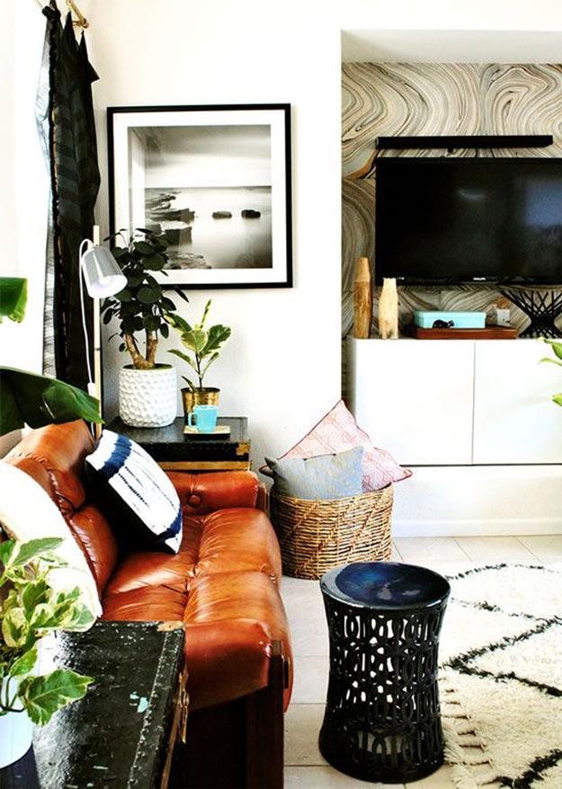 hidden tv in alcove