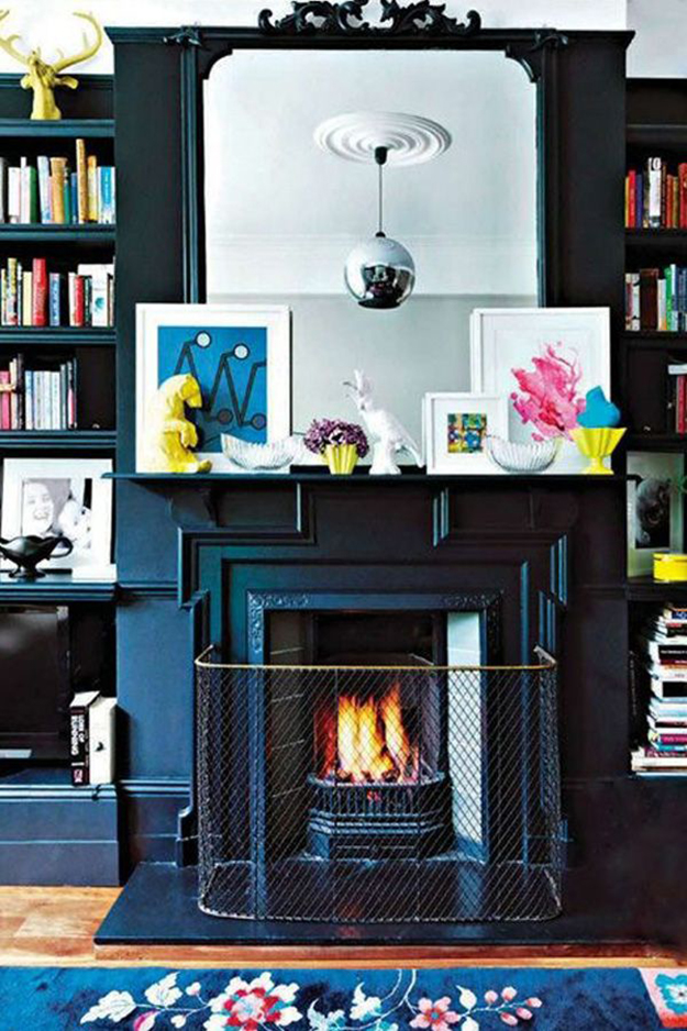 hidden tv in bookshelf