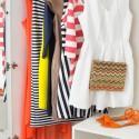Brightly coloured wardrobe